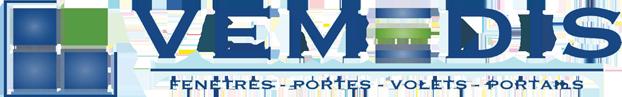 Logo Vedemis, fenêtre, portes, volets, portails